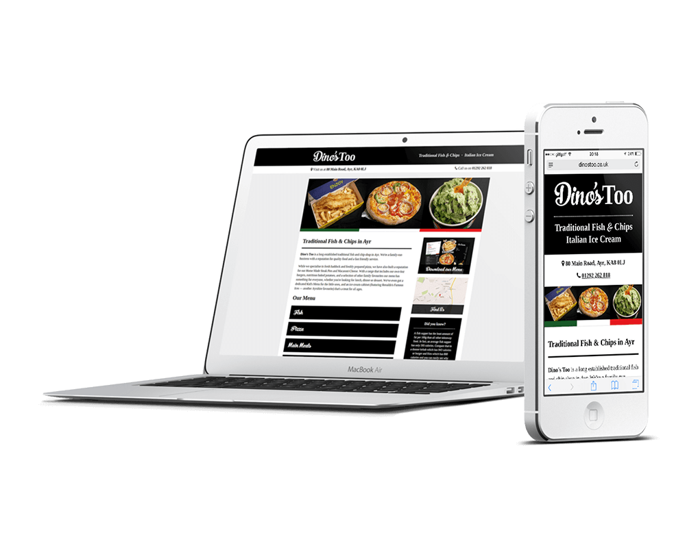 Dino's Too Fish and Chip Shop Responsive Website